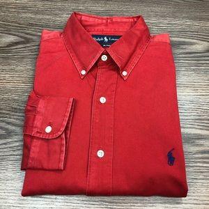 Polo Ralph Lauren Solid Red Shirt L